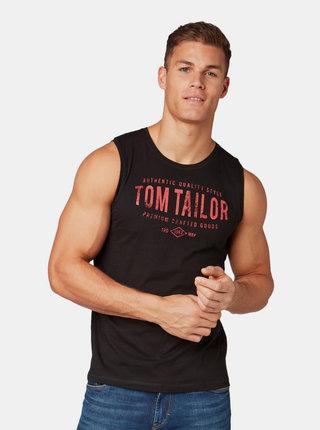 Čierne pánske tielko s potlačou Tom Tailor