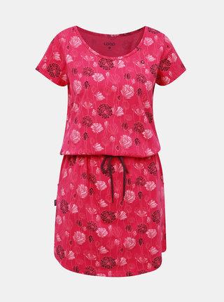 Růžové květované šaty LOAP Barkley