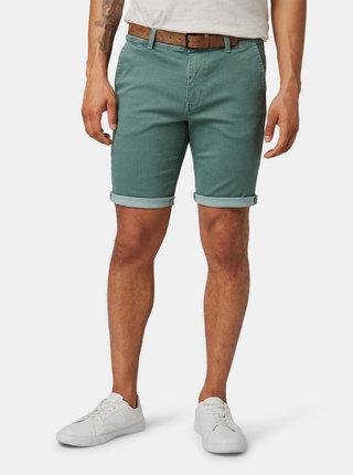 Zelené pánské džínové chino kraťasy Tom Tailor Denim