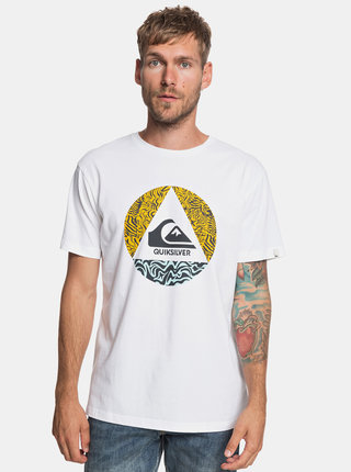 Tricou alb regular fit Quiksilver