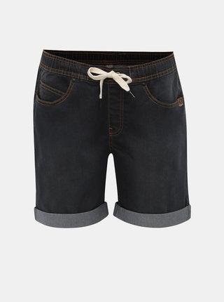 Tmavě šedé dámské džínové kraťasy LOAP Decali