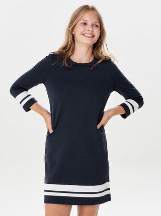 Tmavomodré šaty ONLY Poptrash