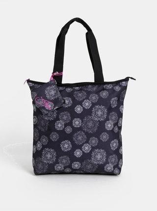 Tmavě modrá dámská vzorovaná taška s odnímatelným pouzdrem LOAP Falnie