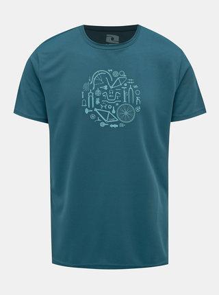 Tmavě zelené pánské tričko s potiskem LOAP Muto