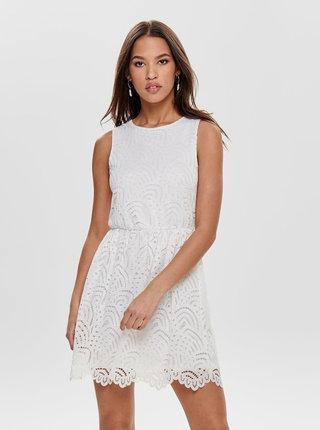 Bílé krajkové šaty ONLY Edith
