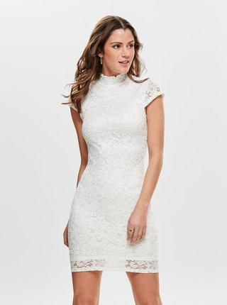 Bílé krajkové šaty ONLY Alba