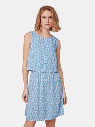 Modré vzorované šaty Tom Tailor