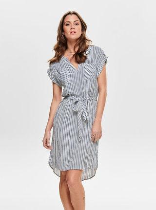 Bílo-modré pruhované šaty ONLY Lillo
