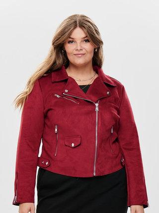 Červená bunda v semišové úpravě ONLY CARMAKOMA Carsherry