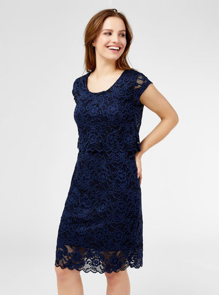 070a631dca905 Tmavomodré krajkové tehotenské šaty vhodné na dojčenie Mama.licious Mivane