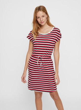 Bielo–červené pruhované šaty s vreckami VERO MODA April