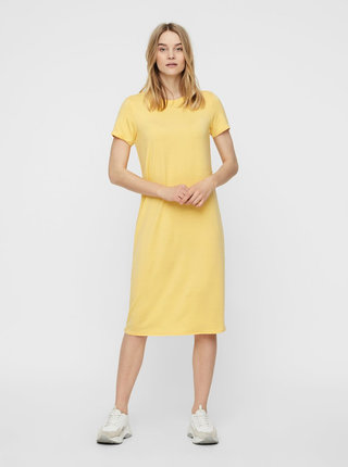Žluté basic midišaty AWARE by VERO MODA Gava