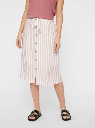 Bielo-rúžová pruhovaná sukňa AWARE by VERO MODA Hailey