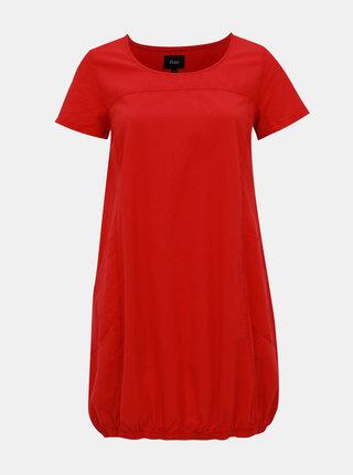 Červené balónové šaty Zizzi