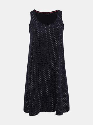 Tmavě modré puntíkované šaty Zizzi Mina