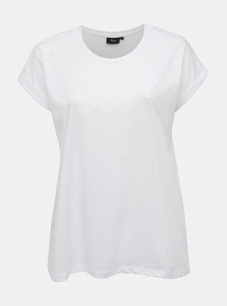 Bílé basic tričko Zizzi Katja
