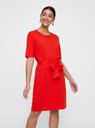 Červené šaty VERO MODA Alex