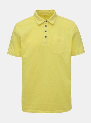 Žlté pánske basic polo tričko s vreckom Tom Tailor