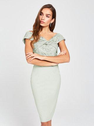 Šedé púzdrové šaty s krajkou Little Mistress