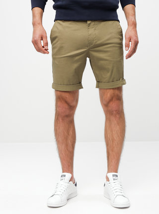 Khaki chino kraťasy Selected Homme Paris