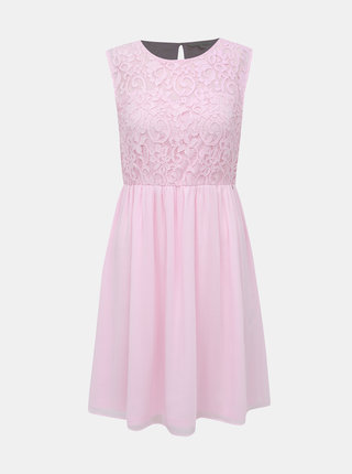 Růžové krajkové šaty Tom Tailor Denim