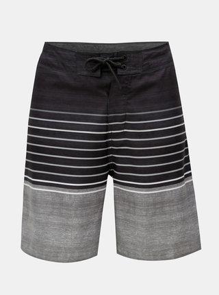 Tmavosivé pánske pruhované plavky Rip Curl