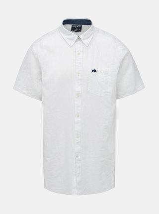 Bílá lněná košile Raging Bull