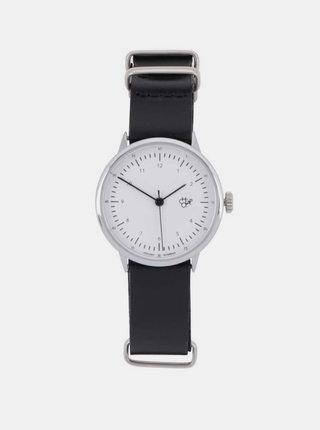 Dámske hodinky s čiernym koženým remienkom CHPO Harold Mini