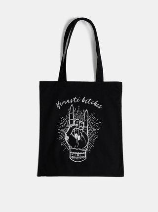Černá plátěná taška ZOOT Original Namasté bitches