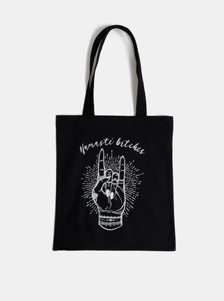 Čierna plátená taška ZOOT Original Namasté bitches