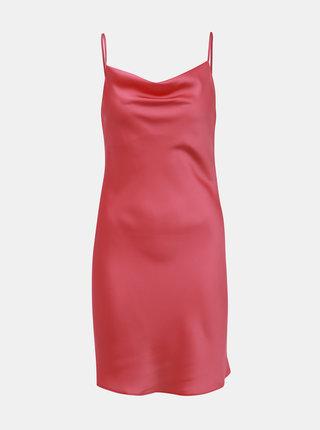Růžové šaty na ramínka Miss Selfridge