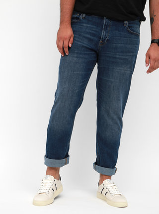 Modré straight fit džíny Jack & Jones Tim