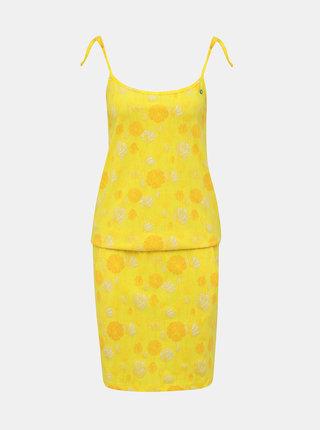 Žlté kvetované šaty na ramienka LOAP Baja