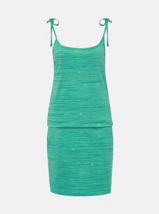 Zelené vzorované šaty na ramínka LOAP Bama
