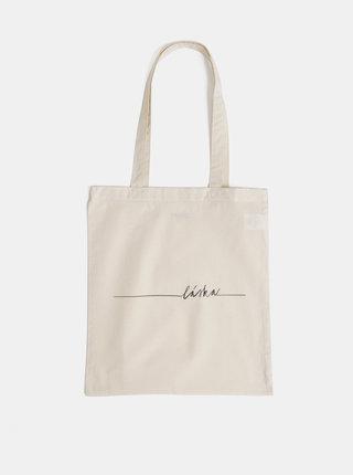 Béžová plátená taška ZOOT Original Láska