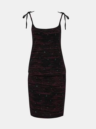Černé vzorované šaty na ramínka LOAP Bama