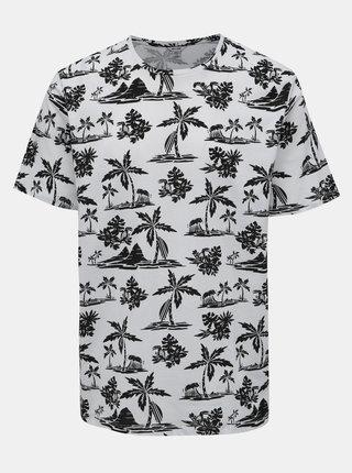 Čierno-biele vzorované tričko ONLY & SONS Gobber