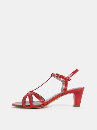 Červené sandálky Tamaris