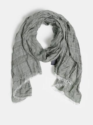 Khaki vzorovaný šátek Jack & Jones Lukas