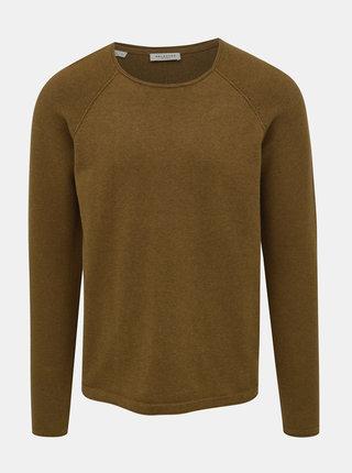 Hnědý basic svetr Selected Homme Carter