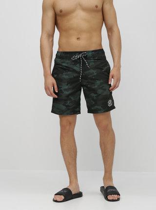 Bermude verde inchis camuflaj Blend