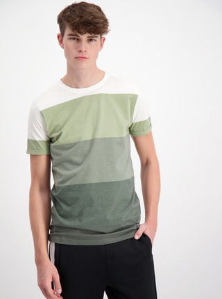 Tricou verde in dungi Shine Original