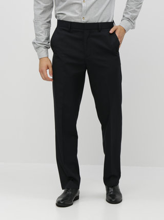 Pantaloni negri in dungi regular fit Burton Menswear London