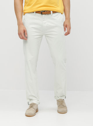 Krémové chino kalhoty s páskem Dstrezzed Presley