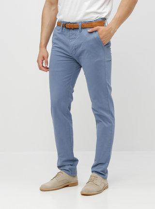 Modré chino kalhoty s páskem Dstrezzed Presley