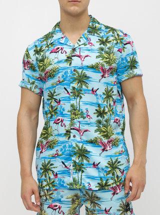 Modrá vzorovaná regular fit košile ONLY & SONS Sid
