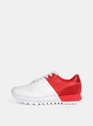 Červeno-biele dámske tenisky s.Oliver