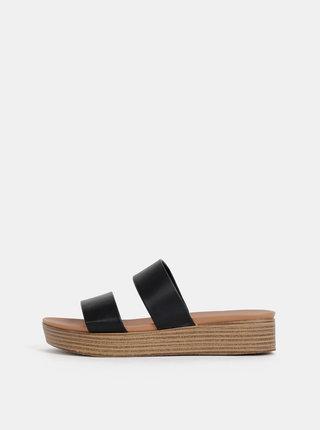 Hnědo-černé pantofle na platformě Dorothy Perkins