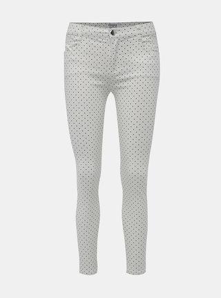 Bílé puntíkované skinny fit džíny  Dorothy Perkins Frankie