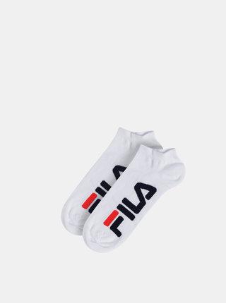 Sada dvou párů pánských bílých nízkých ponožek FILA